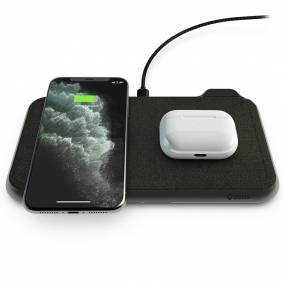 Zens Liberty Dual Trådløs 30w Fast Charge Lader Til Smartphones & Airpods - Svart