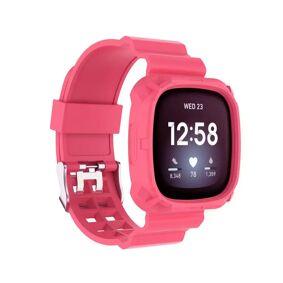 INCOVER Fitbit Versa 3 Silikon Reim - Buckle - Mørk Rosa