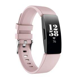 Fitbit Inspire / Inspire Hr Silikon Reim Med Stifter - Pink / Metall