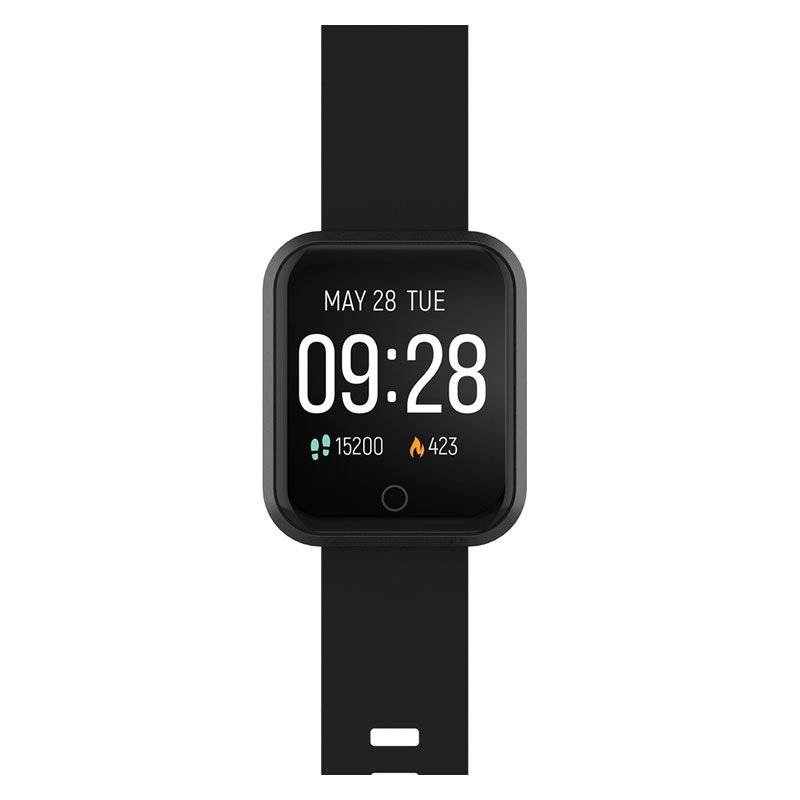 35121 Forever Forevigo Sw-300 Fitness Smartwatch Med Pulsmåler & Skritteller - Svart
