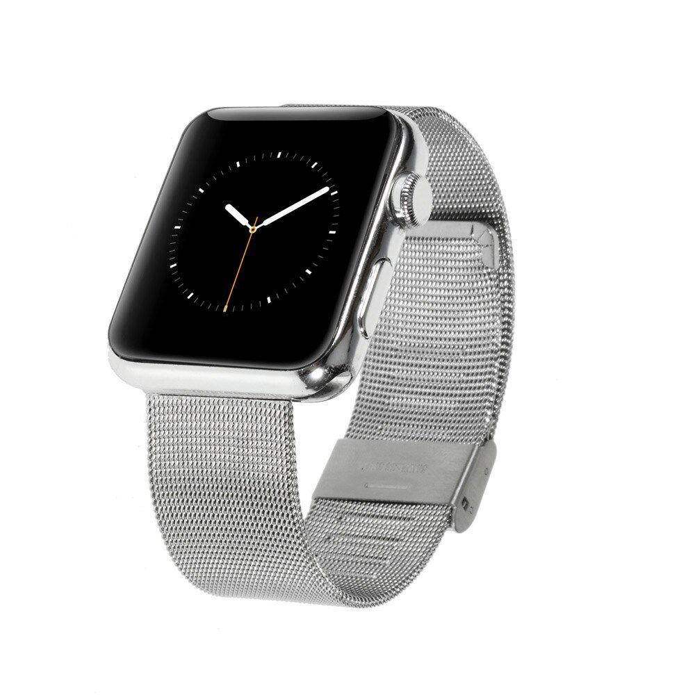 Apple Watch 42mm Mesh Metal Rem - Sølv