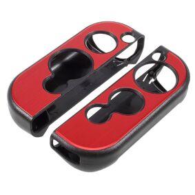 Nintendo Switch Deksel M. Aluminium Look Rød