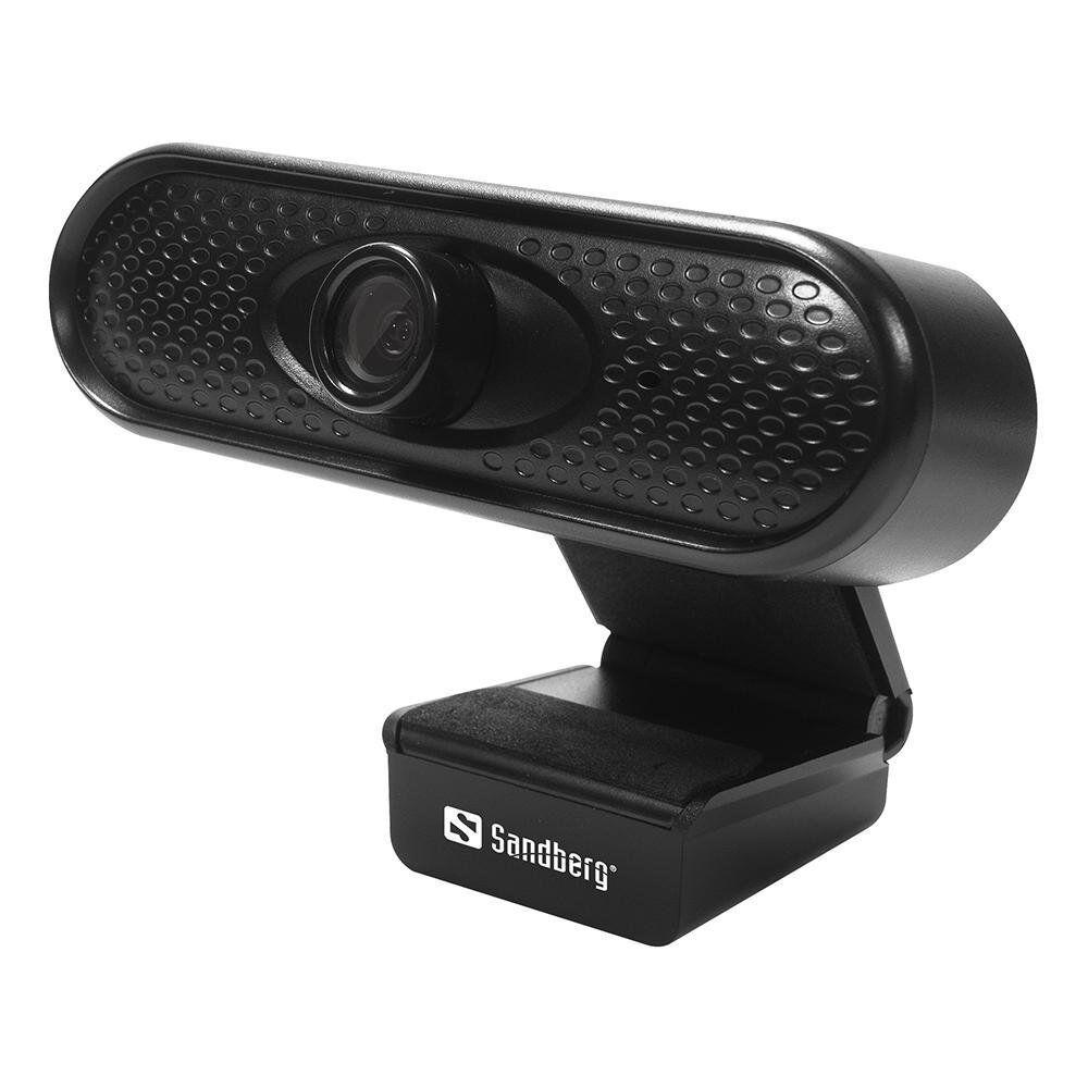 """[""""13708""""] Sandberg Usb Webcam 1080p@30fps Med Mikrofon - Svart"""