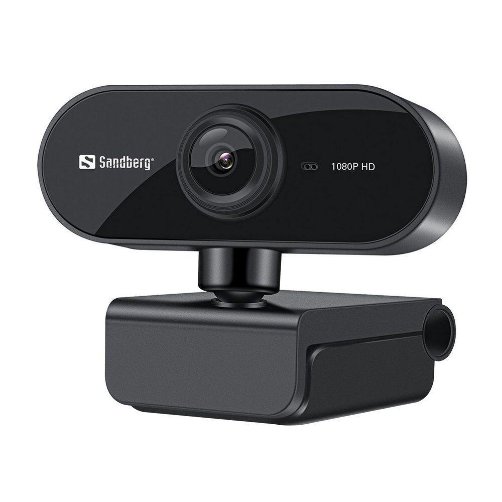 13708 Sandberg 1080p 30fps Usb Webcam Flex M. Mikrofon - Svart