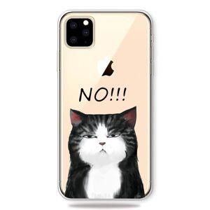 Apple iPhone 11 Pro Gjennomsiktig Fleksibel Plast Deksel - Sint Katt
