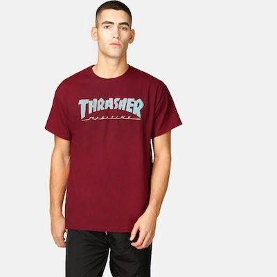 Thrasher T-Skjorte - Outlined Hvit Male L