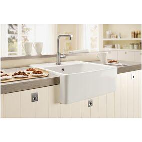 Villeroy & Boch V&b Kjøkkenvask I Porselen 630x595 Mm, Uten Oppløft, Alpinhvit, C+