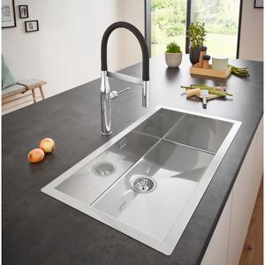 Grohe K700 Kjøkkenvask for planliming 864x464 mm, Rustfritt stål