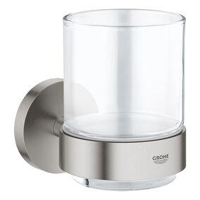 Grohe Essentials Tannglass Med Holder Supersteel