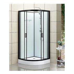 Bathlife Kyffe Dusjkabinett 100x100 Cm, Sort Matt/klart Glass