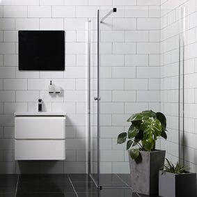 Bathlife Allsidig Dusjhjørne 90x90 Cm, Sølv Profil/klarglass