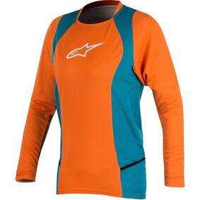 Alpinestars Stella Drop 2 LS Ladies sykkel skjorte XL Blå Oransje