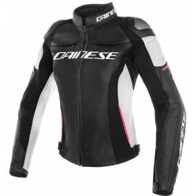Dainese Racing 3 Ladies motorsykkel skinnjakke 38 Svart Rosa