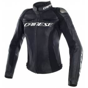 Dainese Racing 3 Ladies motorsykkel skinnjakke 44 Svart