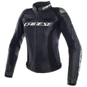 Dainese Racing 3 Ladies motorsykkel skinnjakke 46 Svart
