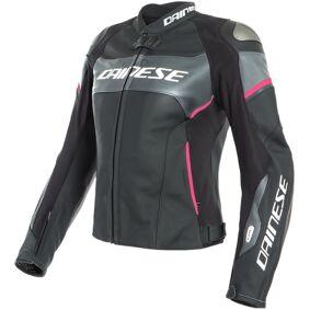 Dainese Racing 3 Lady D-Air® Airbag Ladies motorsykkel skinnjakke 42 Svart Rosa