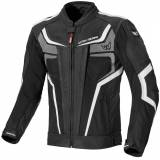 Berik Cosmic Waterproof Motorcycle Leather/Textile Jacket Vanntett ... Svart Hvit 48