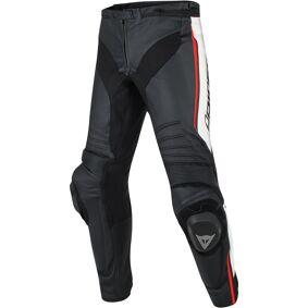 Dainese Misano Motorsykkel skinn bukser 54 Svart Hvit Rød
