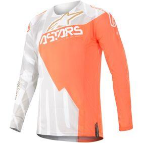 Alpinestars Techstar Factory Metal Motocross Jersey M Hvit Oransje