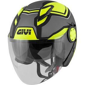 GIVI 12.3 Stratos Shade Jet Hjelm S Svart Gul