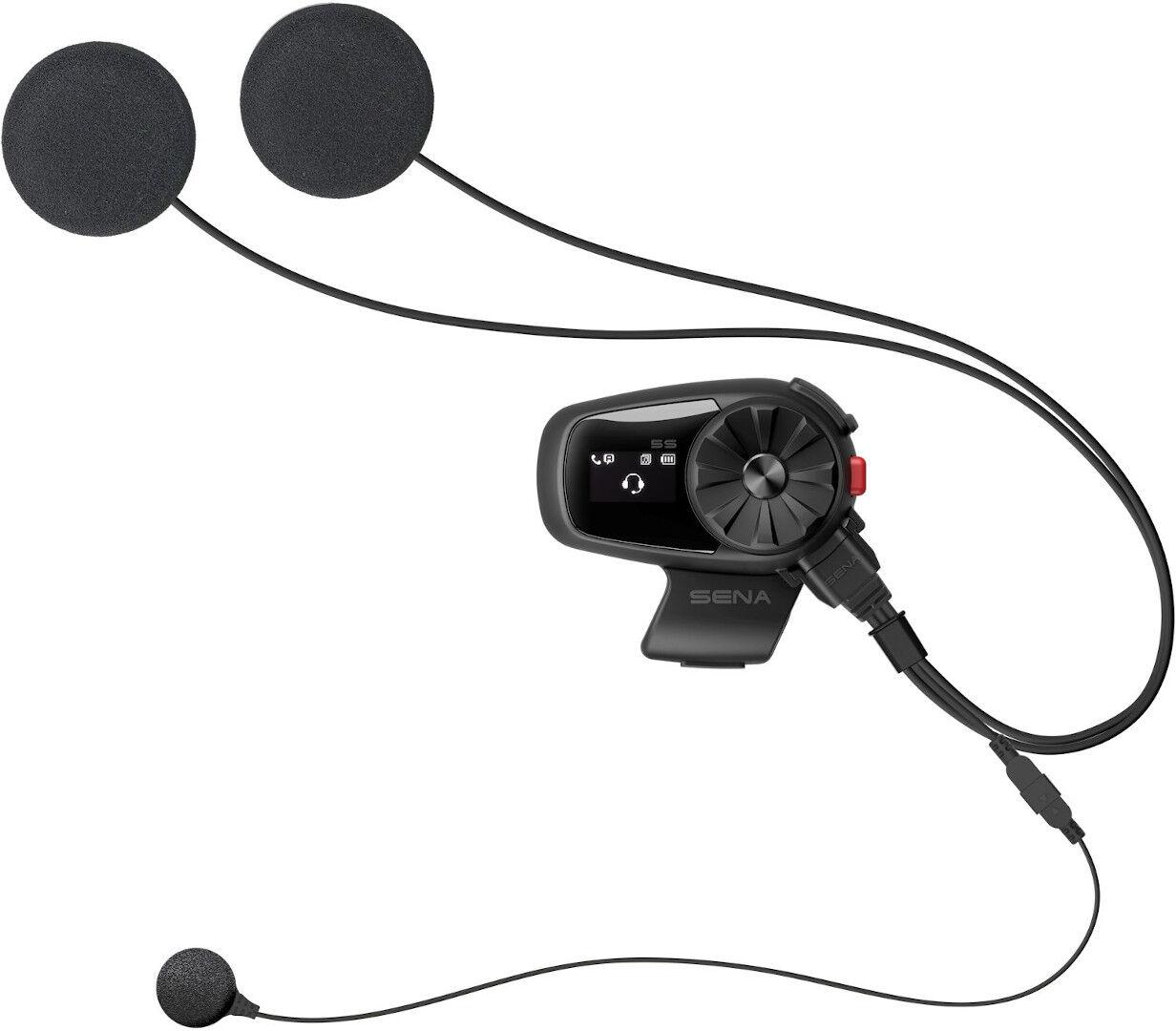 Sena 5S Bluetooth-kommunikasjonssystem enkeltpakke en størrelse Svart