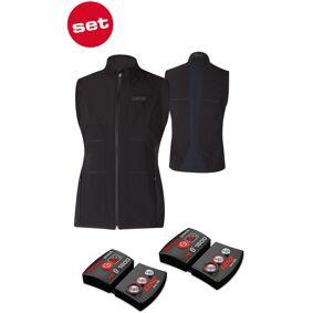 Lenz Lithium Pack rcB 1800 Bluetooth + 1.0 Heatable Vest Varmes opp i vest 2XL Svart
