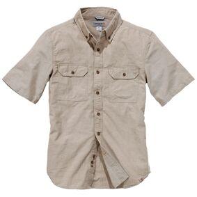 Carhartt Fort Solid Kort ermet skjorte M Brun