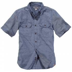 Carhartt Fort Solid Kort ermet skjorte L Blå