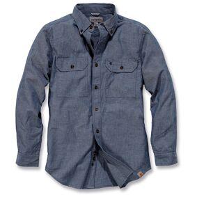 Carhartt Fort Solid Long Sleeve Shirt Langermet skjorte S Blå