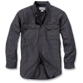 Carhartt Fort Solid Long Sleeve Shirt Langermet skjorte S Grå