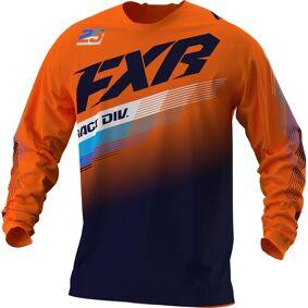 FXR Clutch MX Gear Ungdom Motocross Jersey XL Blå Oransje