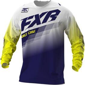 FXR Clutch MX Gear Ungdom Motocross Jersey M Hvit Blå