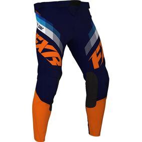 FXR Clutch MX Gear ungdom motocross bukser 28 Blå Oransje