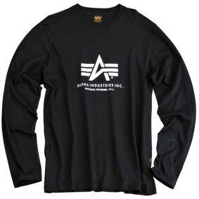 Alpha Industries Basic T Langermet skjorte 3XL Svart Hvit