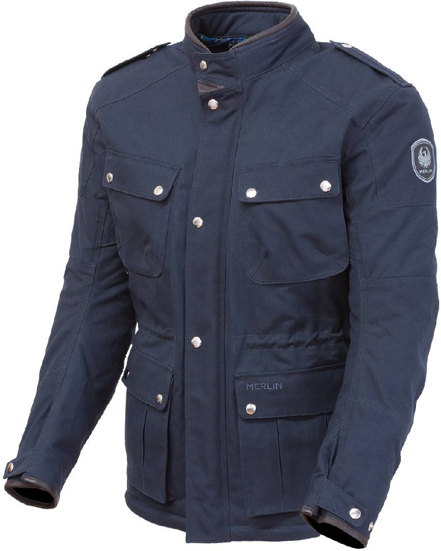Merlin Motley Motorsykkel voks jakke XL Blå