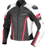 Ixon Trinity Ladies motorsykkel skinnjakke XL Svart Hvit Gull