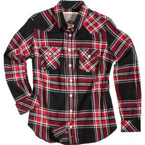 Rokker Madison Women´s skjorte L Svart Hvit Rød