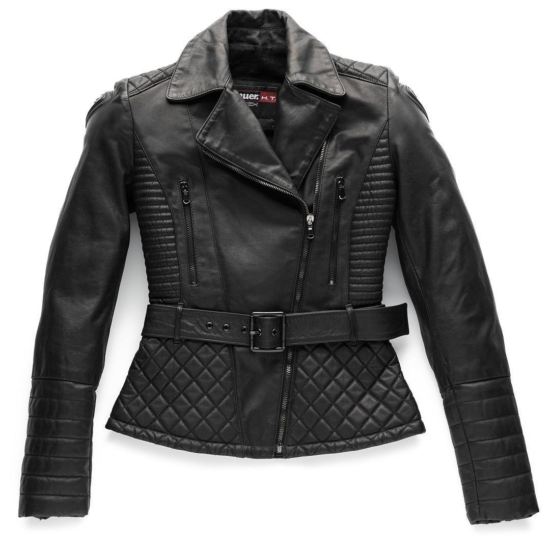 Blauer Trinity Black Ladies motorsykkel skinnjakke M Svart