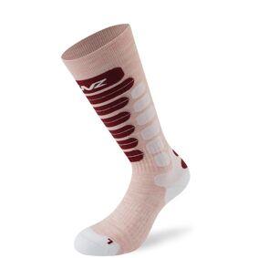 Lenz Skiing 2.0 Kids Socks Sokker til barn 31 32 33 34 Hvit Rosa