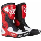 Berik Race-X Racing Motorsykkel støvler Svart Hvit Rød 48