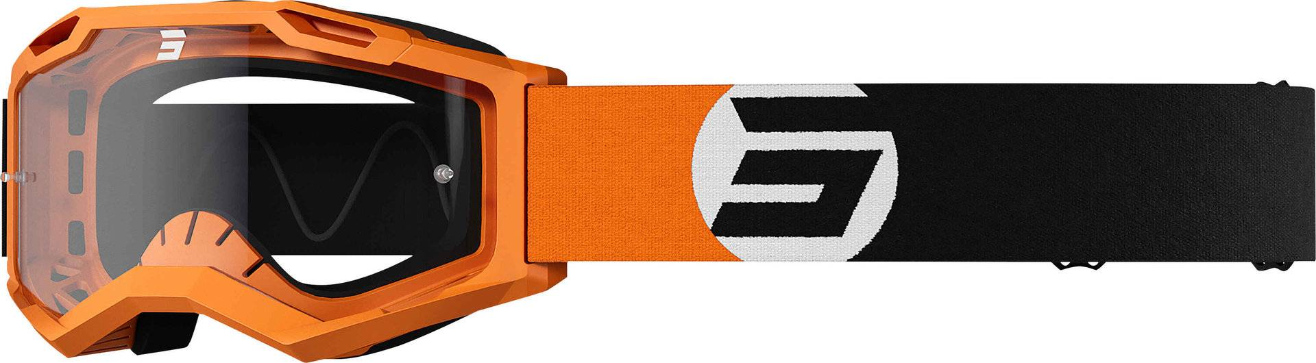 Shot Assault 2.0 Astro Motocross Goggles Motocross briller en størrelse Svart Oransje