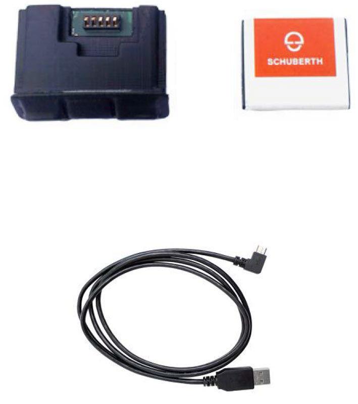 Schuberth SC1 Advanced kommunikasjonssystem Svart en størrelse