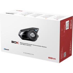 Sena 30K Bluetooth Kommunikasjon systemet enkelt Pack en størrelse Svart