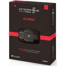 Interphone Edge Bluetooth kommunikasjon System dobbel pakke en størrelse Svart