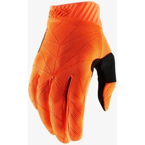 100% Ridefit Gloves Hansker M Svart Oransje