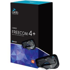Cardo Freecom 4+ / JBL Kommunikasjon systemet enkelt Pack en størrelse Svart