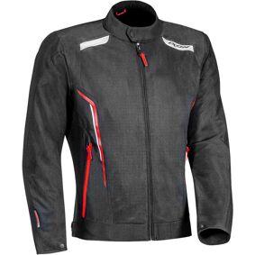 Ixon Cool Air Motorsykkel tekstil jakke 2XL Svart Hvit Rød