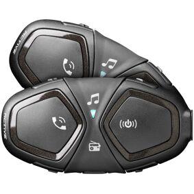 Interphone Active Bluetooth Kommunikasjon System dobbel pakke en størrelse Svart