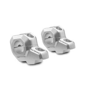 SW-Motech Bar tilbake for Ø 28 mm styre - H = 30 mm. Tilbake 22 mm. Sølv.