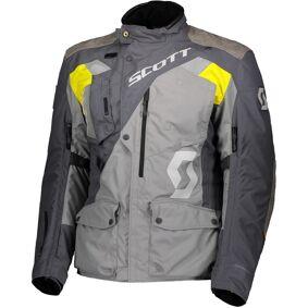 Scott Dualraid Dryo Motorsykkel tekstil jakke XS Grå Gul